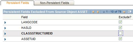 Asset - Exclude/Include Fields