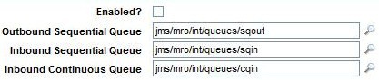 External Systems - JMS Queues for MEA