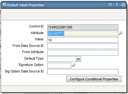 Quantity Default Value