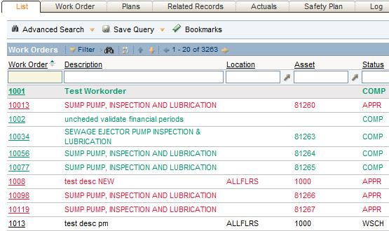 work order tracking