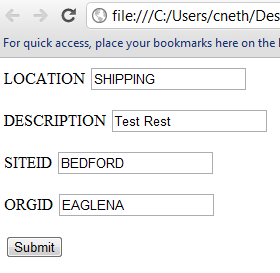 Create Work Order with REST