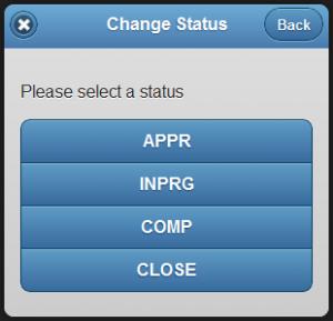 Mobile - Change Status