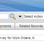 Work Log Tab Highlighted