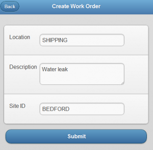 Mobile - Create a Work Order